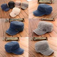 Unisex Women Men Adjustable Army Plain Hat Cadet Military Baseball Hat Sport Cap