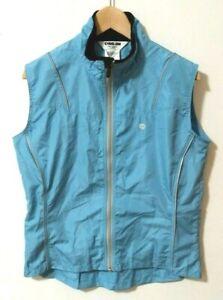 Pearl Izumi Biking Vest Windbreaker Sleeveless Blue Large Women