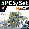 5PCS Military Special SWAT Police Building Blocks Bricks Figures Soldiers Forces