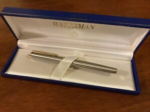 Waterman Hemisphere ORIGINAL model Stainless Steel with Gold Trim Fountain Pen