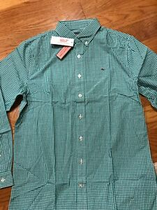 Brand New Vineyard Vines old Town Gingham Shirts For Boys