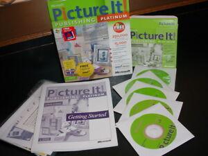 Microsoft Picture It! Publishing Platinum Edition 2002 Windows XP 98 Computer PC
