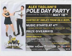 2013 Alex Tagliani + Bronte Tagliani Indy 500 Pole Day Party Flyer handout