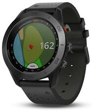 Smartwatch Garmin Approach S60 GPS Golf Premium Black Leather Band 010-01702-02