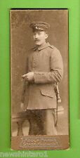 #D153. GERMAN   IMPERIAL  SOLDIER  CABINET  CARD, 50mm by 120mm