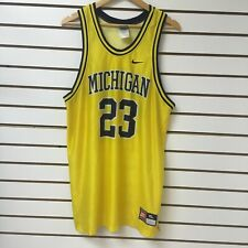 Vintage Michigan Wolverines Nike Basketball Jersey Size Xl