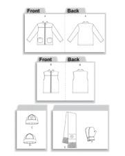 Kid Jacket Vest Mitten Pattern 12-16 Butterick 4595 OOP