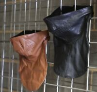 Motorcycle biker leather face mask, face shield full neck coverage top quality
