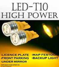 2x pair T10 Yellow LED High Power License Plate Wedge Lights Replacements K72