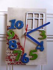 Orologio da parete in ceramica fatto a mano Design Casa Wall Art unico Cottage Casa Fattoria 0501