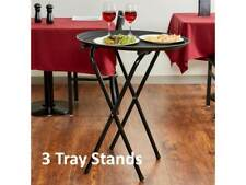 """(3-Pack) Restaurant Catering 31"""" Dining Room Black Folding Metal Tray Stands"""