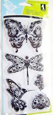 Mindscapes Butterfly Dragonfly Clear Acrylic Stamp Set Inkadinkado 99121 NEW!