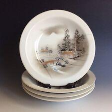 Set Of 4 Hand Painted Kutani China Bowls Made In Japan