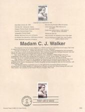 #9803 32c Madam C. J. Walker Stamp #3181 Souvenir Page