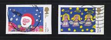 GREAT BRITAIN 2013 CHILDREN'S CHRISTMAS (DRAWING) SELF ADHESIVE COMP SET 2 STAMP