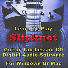 SLIPKNOT Guitar Tab Lesson CD Software - 87 Songs