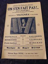 Partition On s'en fait pas Java Marzurka Trognée Roger Dufas 1933