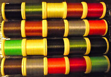 FLY TYING THREAD. 10 SPOOLS 250 yds. ONLY £9.90 (Best price on Ebay) Size 8/0