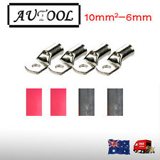4 X Battery Cable Lead Lug Terminals 10-6 for Electrical wire 8 B&S cable AU