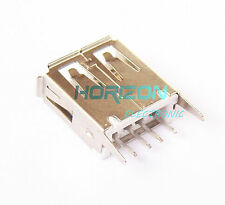 20PCS USB Connector Type A 4 Pin Receptacle Female Vertical Mount Socket
