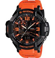 Casio GA1000-4A G-Aviation G-Shock Watch Orange Black Analog Digital Twin Sensor