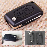 2 Buttons Remote Flip Key Shell Fob Case CE0536 Fit For PEUGEOT 207 307 308 407