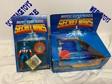 1984 Mattel Marvel Super Heroes Secret Wars CAPTAIN AMERICA & TURBO CYCLE