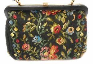 Retro Tasche, Handtasche Gobelinstickerei aus den  60er/70er Jahre Theater