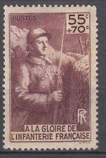 FRANCE TIMBRE  N° 386 * MONUMENT A LA GLOIRE DE L INFANTERIE