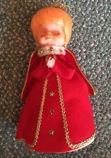 Vintage angel christmas tree topper - Red Dress Praying