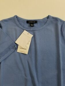 Lands end Womans Blue Short Sleeve Knit Shirt Small S NWT NEW
