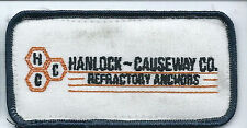 Hanlock Causeway Co Refractory Anchors advertising patch 2 X 4 #1449