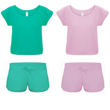 Womens Ladies PJ Set Lounge Pants Pyjama Shorts Tshirt Top Sweatshirt Sports Gym