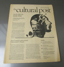 1977 CULTURAL POST Underground Newspaper VG+ #11 National Endowment of Arts
