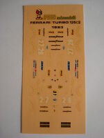 F1 DECALS KIT FERRARI 126 C2 TURBO 1983 GP IMOLA N.27-28  FDS AUTOMODELLI