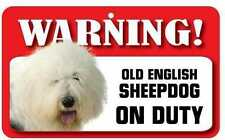 Old English Sheepdog Pet Sign Ds054
