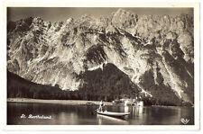 1930 RPPC Postcard - St. Bartholomä, Watzmann - Schönau am Königsee, Germany