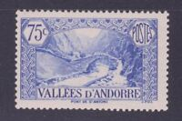 """ANDORRE STAMP TIMBRE 1937- 43 YVERT N° 70 """" PAYSAGE 75c OUTREMER """" NEUF xx LUXE"""