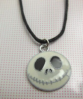 Wachs Kordel weiß The Nightmare Before Christmas JACK Emailliert Charms Kette