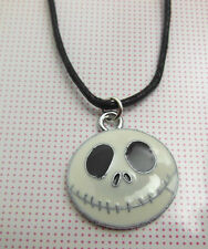 A Wax Cord White The Nightmare Before Christmas JACK Enamelled Charm NECKLACE.