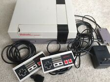 Nintendo NES Console with Cables & Controllers Tested