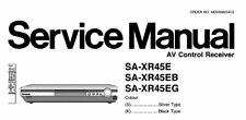 NATIONAL SA-XR45E SA-XR45EB SA-XR45EG AV CONTROL RECEIVER SERVICE MANUAL BOOK