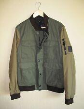 BELSTAFF Ashvale blouson Racing Green Bomber MA-1 Jacket Nylon Cotton Size 42