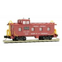 Frisco SL-SF 36' Riveted Steel Offset Cupola Caboose MTL #100 00 420 N-Scale