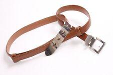 BELLISSIMO VINTAGE Street Style Marrone Skinny Cintura W Argento Fibbia in metallo (S344)