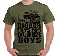 Bigger Toys for Older Boys! Off Road 4x4 90 110 SVX Mens T-Shirt Defenders Rover