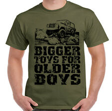 Bigger Toys for Older Boys! Land Rover Off Road 4x4 90 110 Defender Mens T-Shirt
