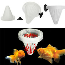 4x Aquarium Red Worm Feeder Cone Feeding for Fish Tank Angel Fish Discus Fish E&