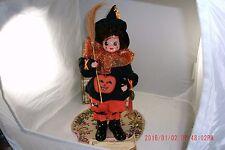Vintage 1986 Collectible Doll, Brinn's October Calendar Clown, Pumpkin Halloween