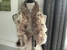PRINCIPLES NEW FAUX FUR SCARF COLLAR LADIES GIFT GORGEOUS BEIGE TWISTED STOAL